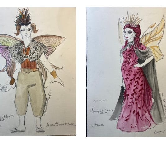 Costumes designs by Aaron Kubacak for Austin Shakespeare's 'A Midsummer Night's Dream'