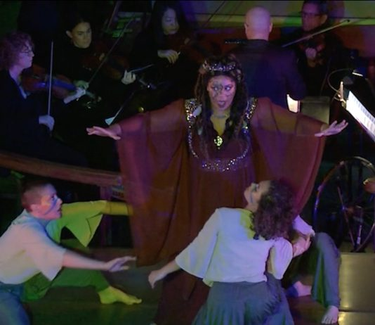 Ivy Cantu as Queen Dido in the production of 'Dido and Aeneas' by LOLA (Local Opera Local Artists) and Panoramic Voices.