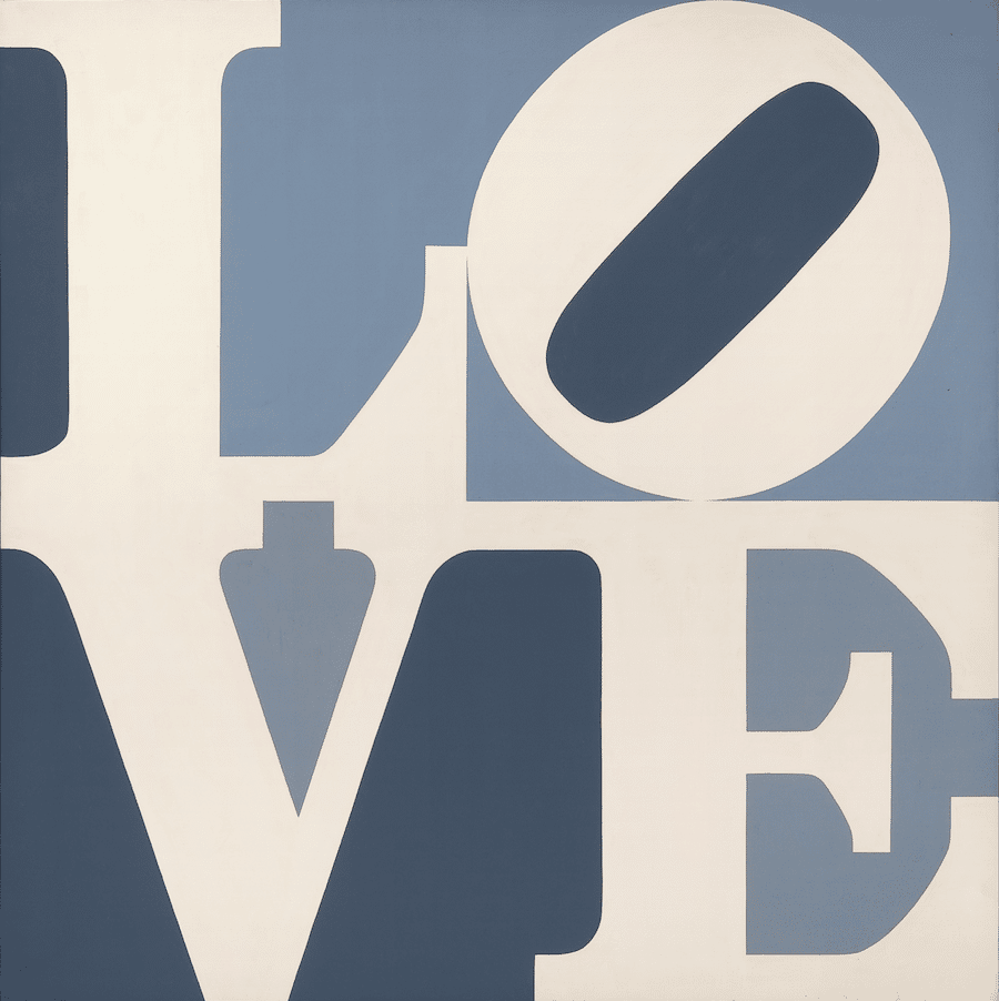 Robert Indiana, LOVE, 1967. Oil on canvas. Collection of The Tobin Theatre Arts Fund. © Morgan Art Foundation/ Artists Rights Society (ARS), New York