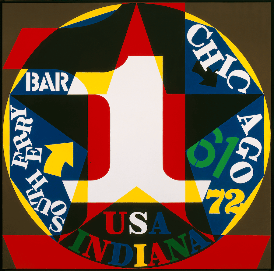 Robert Indiana, Decade: Autoportrait 1961, 1972-77. Oil on canvas. Collection of the McNay Art Museum, Gift of Robert L. B. Tobin. © Morgan Art Foundation/ Artists Rights Society (ARS), New York