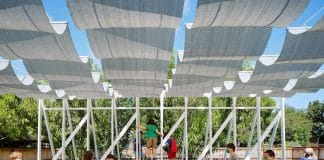 Students enjoy Murray Legge's outdoor classroom for Little Tiger Chinese Immersion School. Photo by Leonid Furmansky