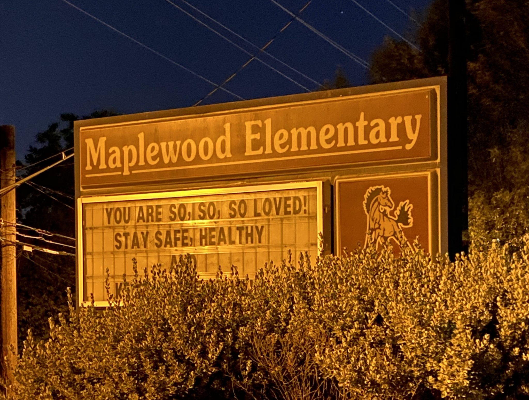 Maplewood pandemic sign