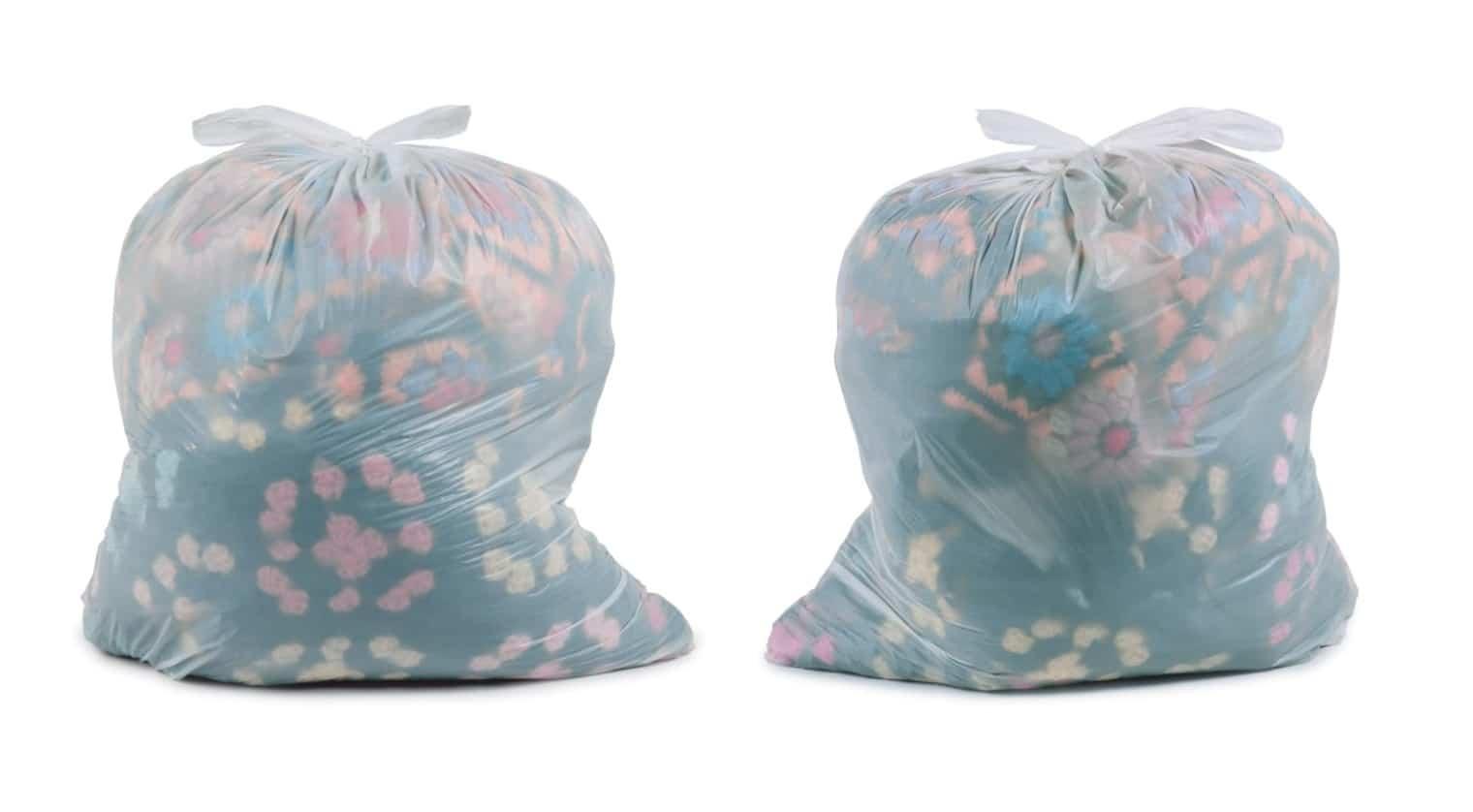 "CHUCK RAMIREZ AMERICAN, 1962-2010 TRASH BAGS: AFGHANS, 1998 Pigment inkjet print 48 x 60"""