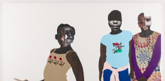 Deborah Roberts, The duty of disobedience, 2020. Mixed media collage on canvas. Artwork © Deborah Roberts. Photograph by Paul Bardagjy.