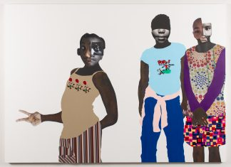 Deborah Roberts, The duty of disobedience, 2020. Mixed media collage on canvas. Artwork © Deborah Roberts. Photograph by Paul Bardagjy.