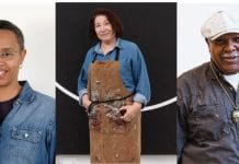 From left, Annette Lawrence, Virgina Jara and Melvin Edwards, are among the 51 artists included in the 2021 Texas Biennial