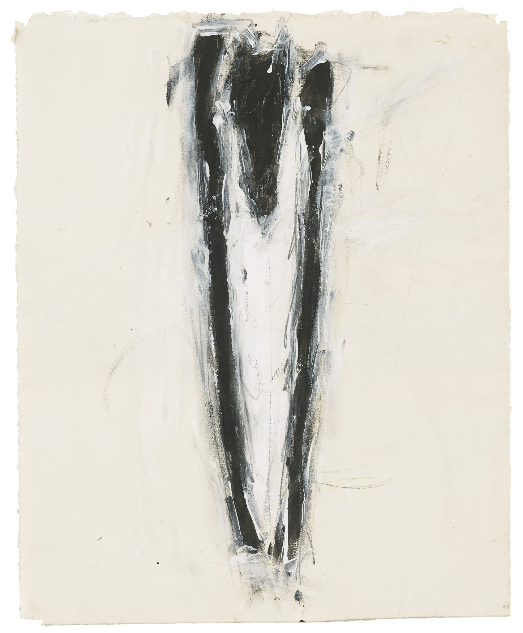 Susan Rothenberg, Untitled, 1979, acrylic, vinyl paint, colored pencil, and graphite on paper, 23 x 19 in., Jack Shear Collection, © 2021 Susan Rothenberg / Artists Rights Society (ARS), New York, photo courtesy of Jack Shear