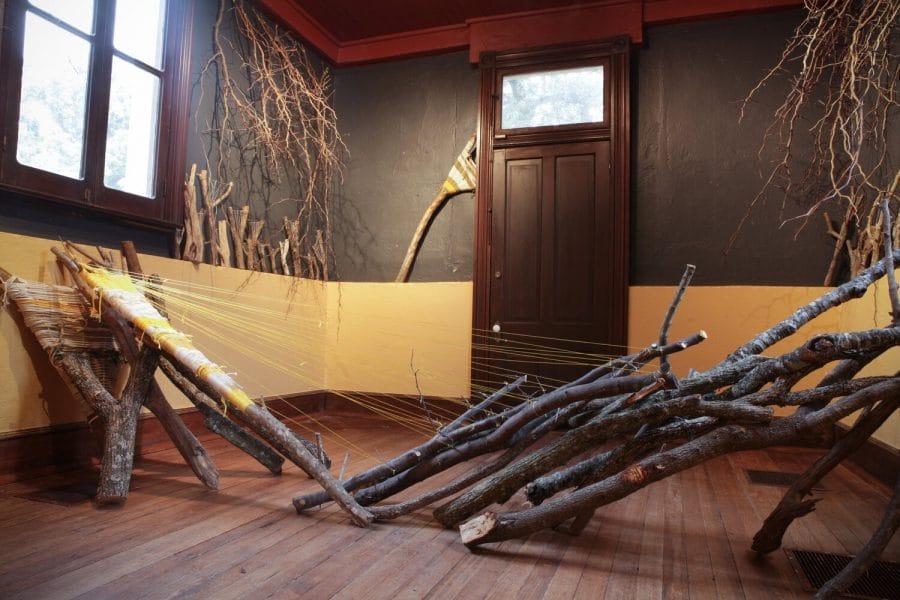"Jade Walker's installation ""Birdsong"" at the Elisabet Ney Museum"