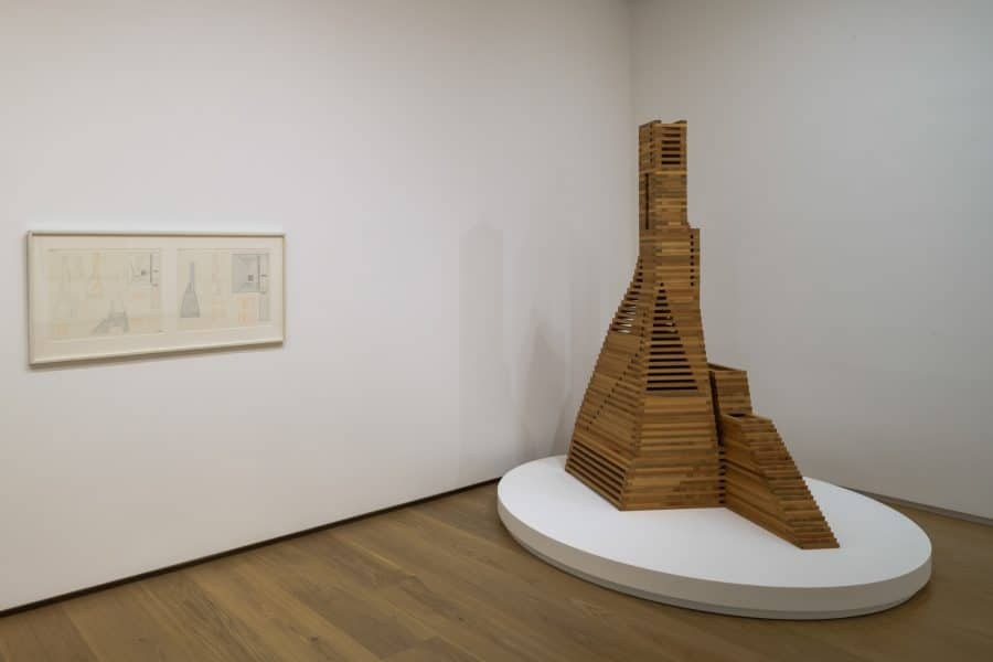 """Installation view of """"Dream Monuments"""""""