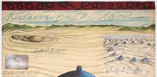 Mary Beth Edelson, Earth Works Reclaiming the Land, 1976.