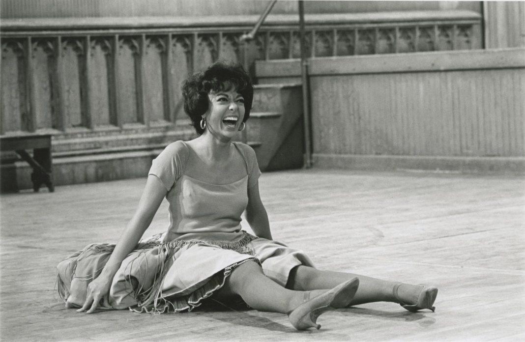 Rita Moreno on the set of