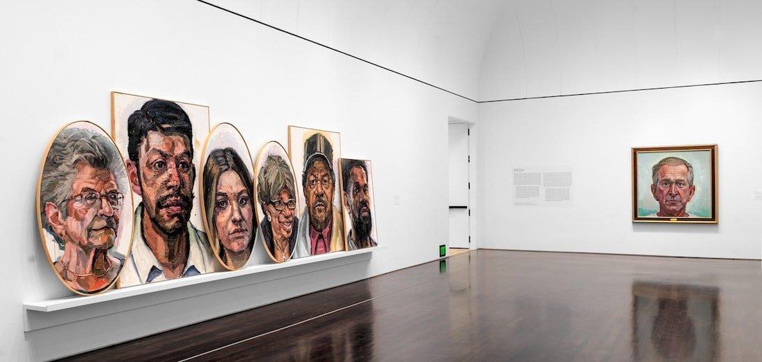 Installation view of Sedrick Huckaby, Blanton Museum of Art, The University of Texas at Austin, May 29–December 5, 2021