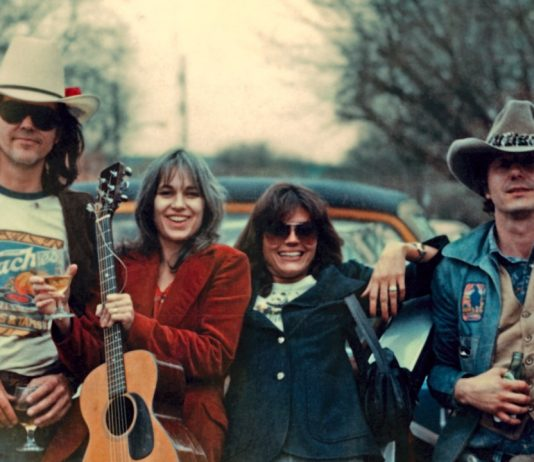 """From """"Without Getting Killed or Caught"""" left to right Guy Clark, Susanna Clark, Susan Walker and Jerry Jeff Walker"""