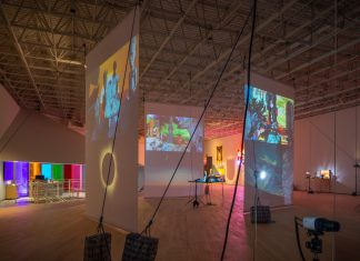 Installation view of Cauleen Smith: We Already Have What We Need, Contemporary Arts Museum Houston, Texas, 2021. Photo by Sean Fleming.